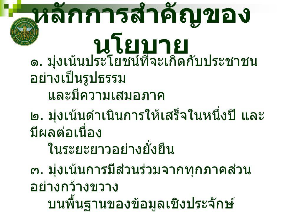 ความครอบคลุมของ นโยบาย นโยบายนี้ เป็นนโยบายการดำเนินงาน ภายในบทบาท ของรัฐมนตรีสาธารณสุข ใน ฐานะ 1.
