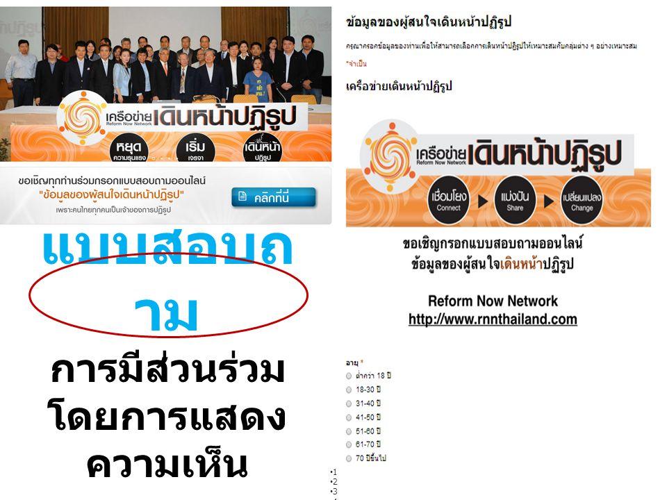 เวทีความคิดเพื่อการปฏิรูปประเทศไทย ครั้งที่ 1 เรียนรู้ ถอดบทเรียน กระบวนการ ปฏิรูปประเทศ : เพื่อการเดินหน้าปฏิรูปอย่าง ก้าวหน้า