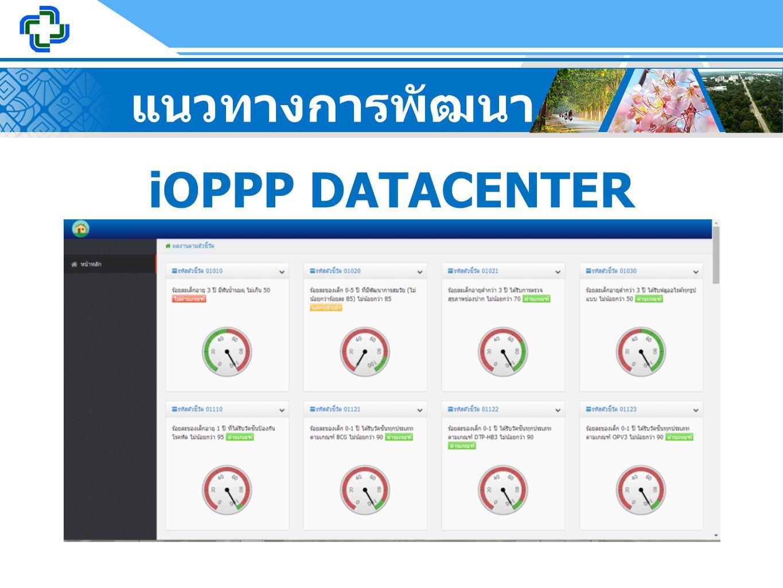 แนวทางการพัฒนา iOPPP DATACENTER