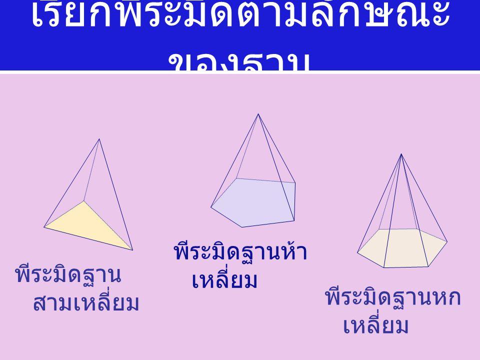 4. พีระมิดสี่เหลี่ยมจัตุรัส ยาว 14 ซม. สันยาว 25 ซม. มี พื้นที่ผิวข้างเท่าไร