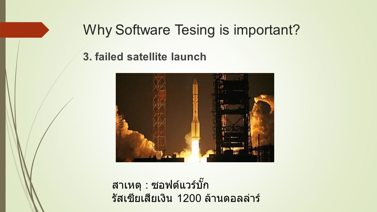 Why Software Tesing is important.3.