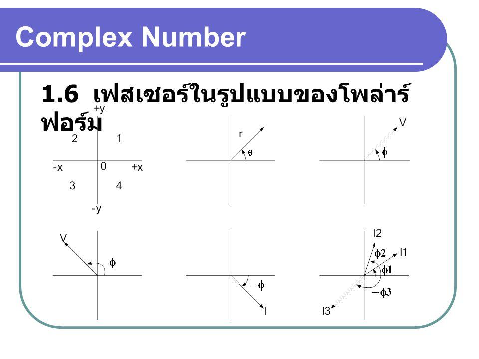 Complex Number 1.6 เฟสเซอร์ในรูปแบบของโพล่าร์ ฟอร์ม