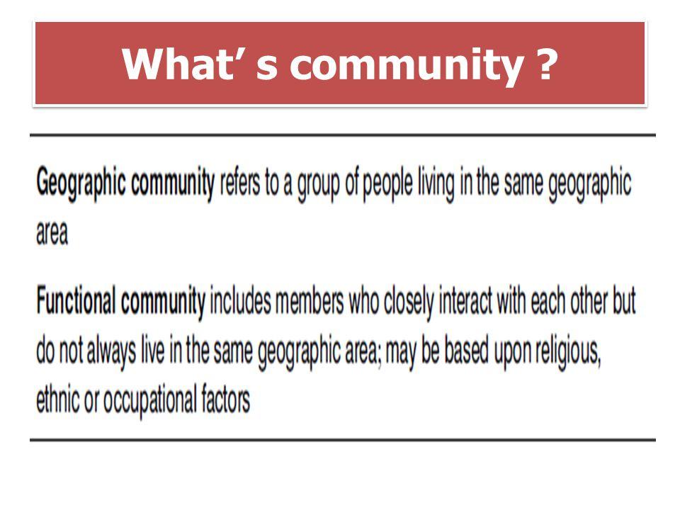 What' s community ?