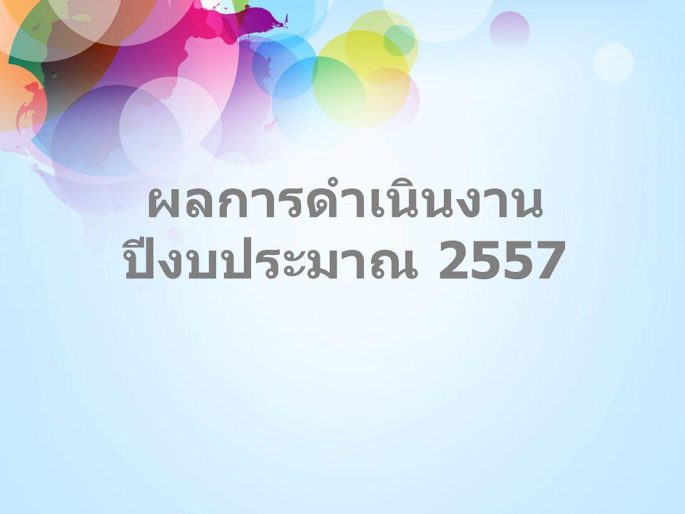 ผลการดำเนินงาน ปีงบประมาณ 2557