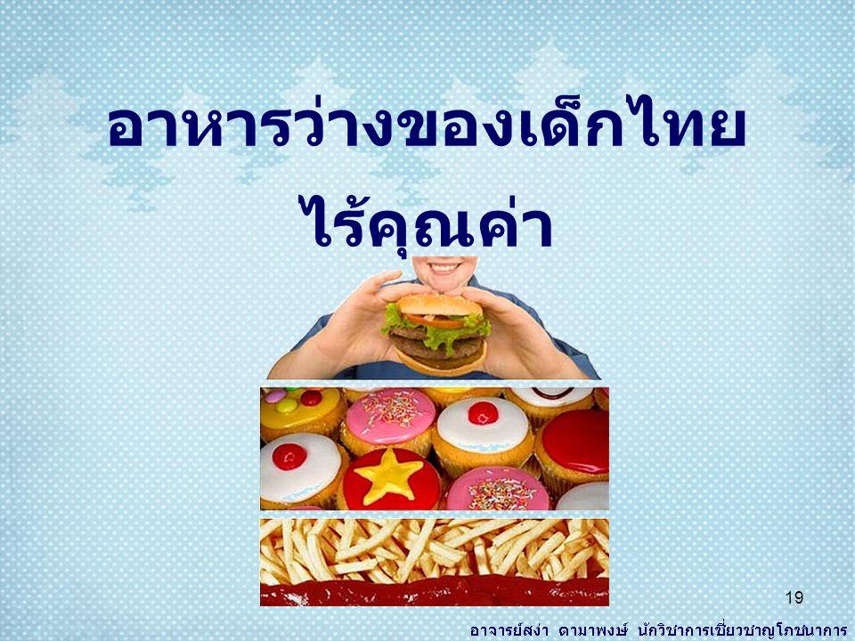 อาหารว่างของเด็กไทย ไร้คุณค่า 19
