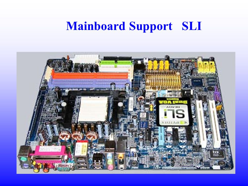 Mainboard Support SLI