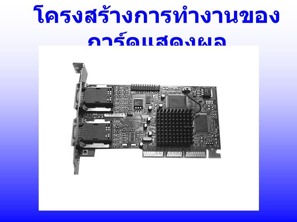Graphic Processor ทำหน้าที่การประมวลผลเกี่ยวกับ กราฟฟิก เช่น การคำนวณทางด้าน 3 มิติ การคำนวณ พื้นผิว (texture) Graphic Processor ที่ นิยมใช้งานในปัจจุบันมีหลายยี่ห้อ เช่น SIS, S3, 3dfx,Nvidia,Matrox, ATi