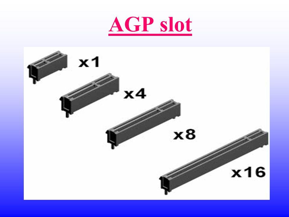 อัตราการรับ – ส่ง ข้อมูลของ PCI,AGP,PCI Express PCI33MHz 132MB/s AGP 1 X 66MHz 266MB/s AGP 2 X 133MHz 533MB/s AGP 4 X 266MHz 1064MB/s AGP 8 X 533MHz 2132MB/s PCI Express x161100MHz 4 GB/s PCI Express x16 SLI 8 GB/s