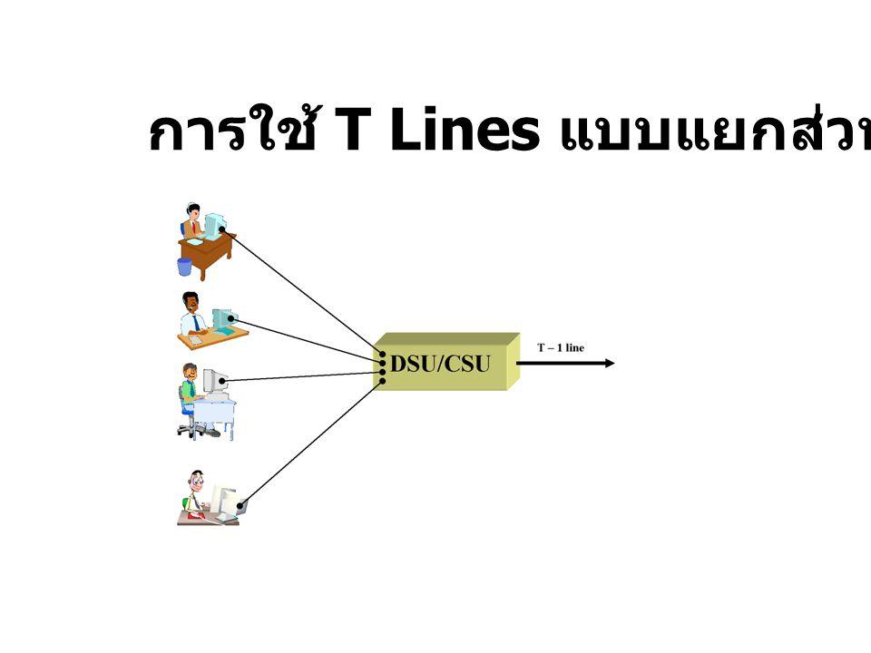 การใช้ T Lines แบบแยกส่วน