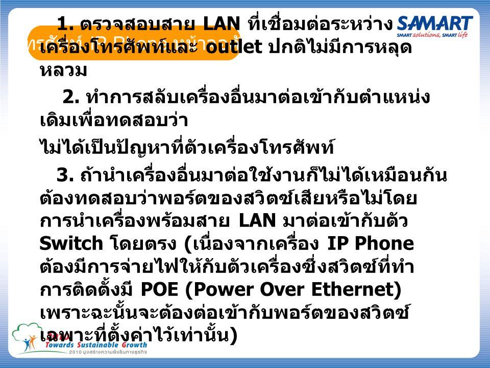 โทรศัพท์ IP Phone หน้าจอดับ 1.