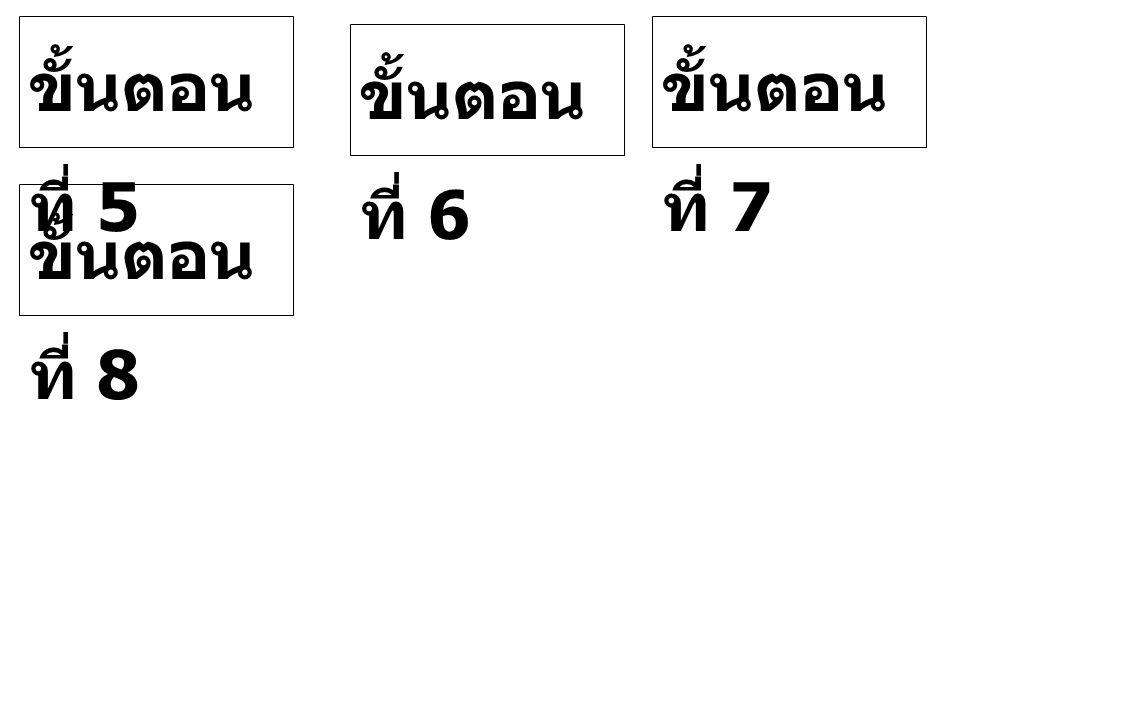 ขั้นตอน ที่ 5 ขั้นตอน ที่ 8 ขั้นตอน ที่ 6 ขั้นตอน ที่ 7