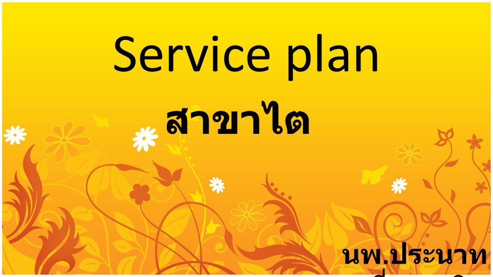 Service plan สาขาไต นพ. ประนาท เชี่ยววานิช