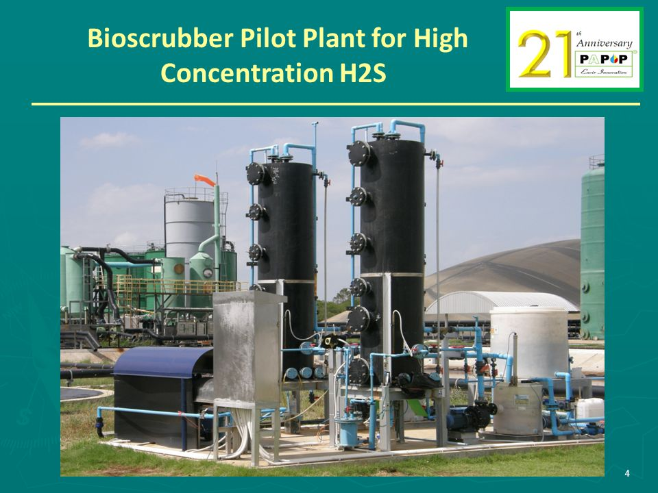 Bioscrubber Pilot Plant for High Concentration H2S 4