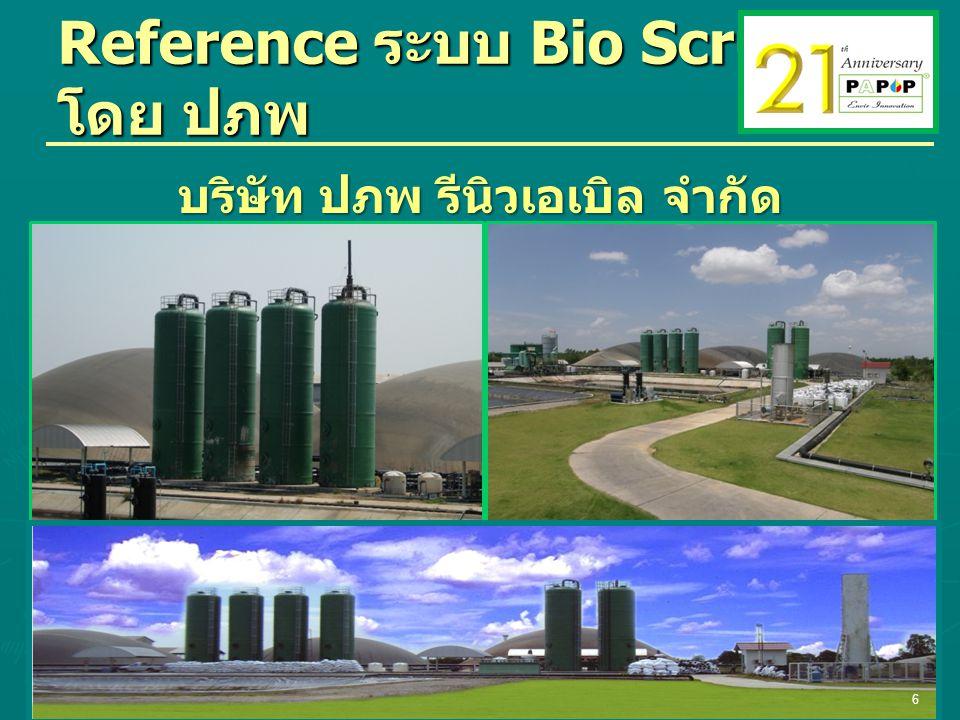 Reference ระบบ Bio Scrubber โดย ปภพ บริษัท ปภพ รีนิวเอเบิล จำกัด 6