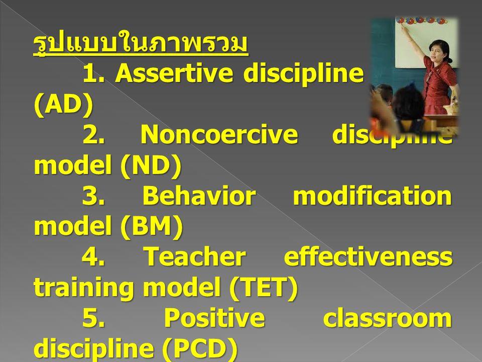 แนวความคิดเกี่ยวกับการบริหาร การจัดการชั้นเรียน 1.
