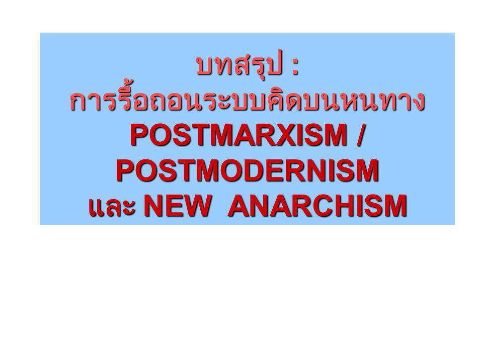  เสรีนิยมใหม่  มาร์กซิสต์ใหม่  อนาร์คิสต์ใหม่  นิเวศนิยม  เสรีนิยมใหม่  มาร์กซิสต์ใหม่  อนาร์คิสต์ใหม่  นิเวศนิยม