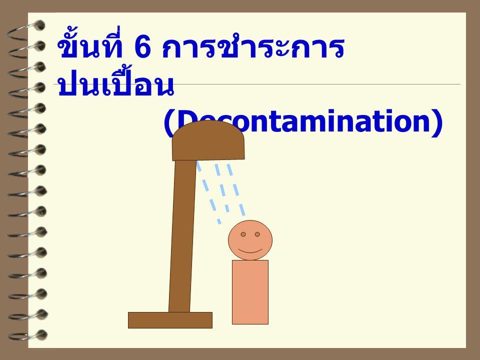 ขั้นที่ 6 การชำระการ ปนเปื้อน (Decontamination)