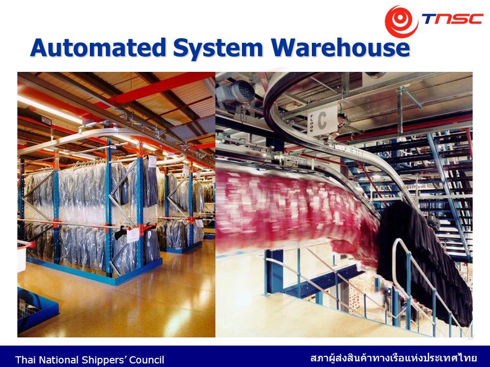 Thai National Shippers' Council สภาผู้ส่งสินค้าทางเรือแห่งประเทศไทย 27 Automated System Warehouse