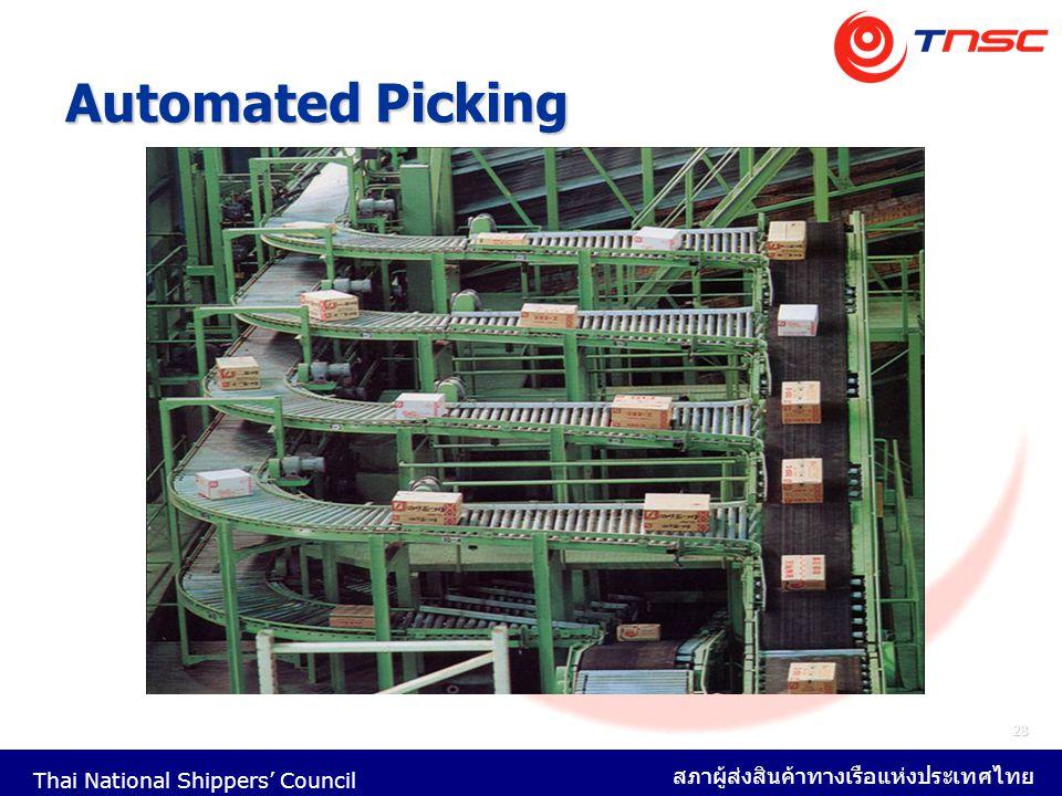Thai National Shippers' Council สภาผู้ส่งสินค้าทางเรือแห่งประเทศไทย 28 Automated Picking