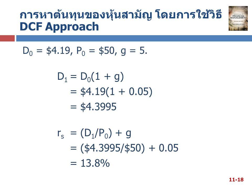 D 0 = $4.19, P 0 = $50, g = 5.