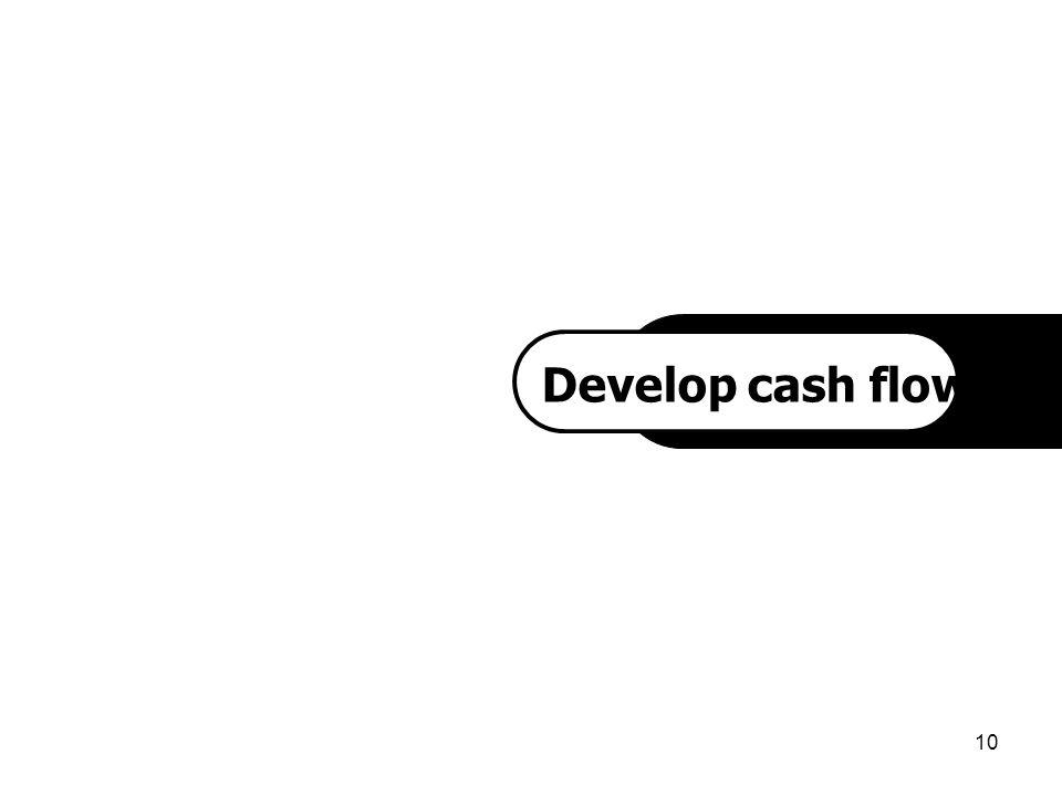 10 `1 Develop cash flow project