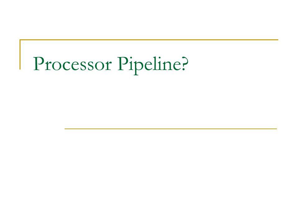 Processor Pipeline?