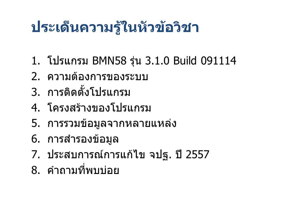 เข้า login แล้ว โปรแกรมหาข้อมูลไม่เจอ ต้องไปแก้ใน Windows ตั้ง Location เป็น Thailand Control Panel => Region