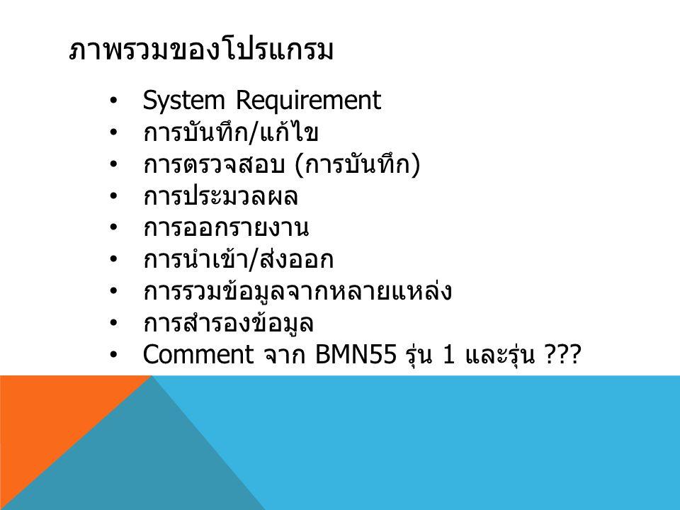 โปรแกรมใช้ได้กับ WINDOWS/OFFICE รุ่นใดบ้าง