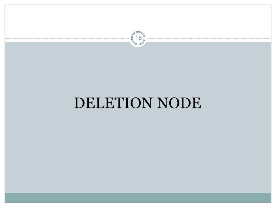 18 DELETION NODE
