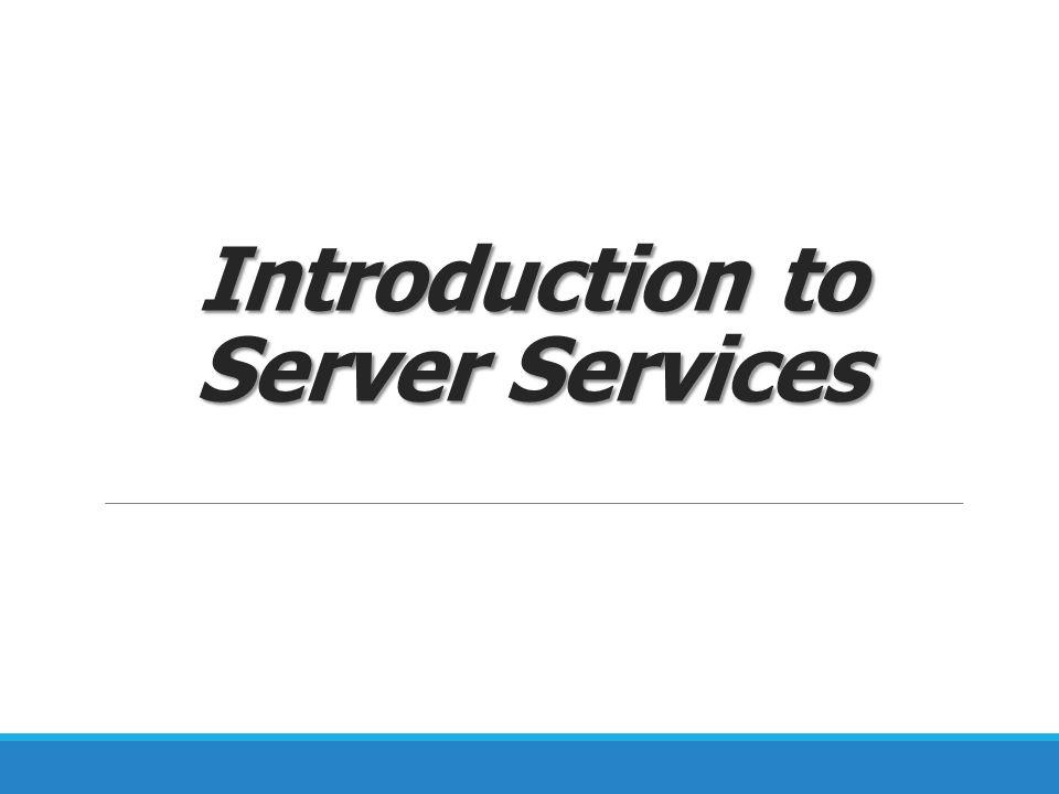 File Server  ให้บริการสำหรับการจัดเก็บข้อมูลของผู้ใช้ใน องค์กร  ใช้บริการผ่านระบบเครือข่าย  ระบบต้องการระบบเครือข่ายที่เสถียร และ Hard Disk ที่มีความเร็วสูง ( ไม่ทำให้เกิดคอขวดของ I/O)