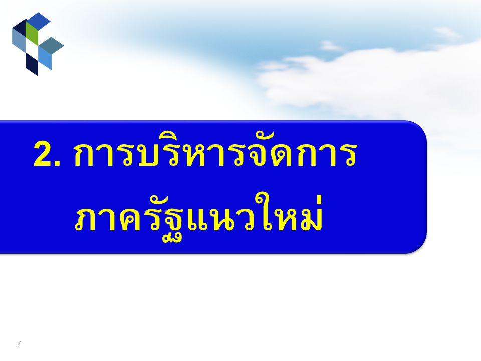 2. การบริหารจัดการ ภาครัฐแนวใหม่ 7