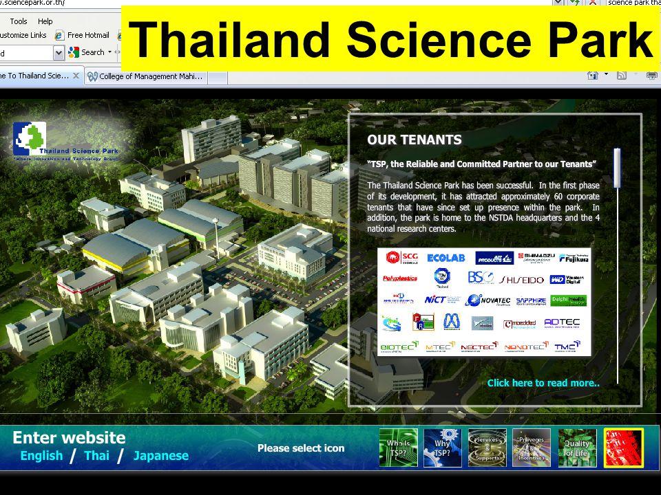 14/12/57Dr. Montri Chulavatnatol11 Thailand Science Park