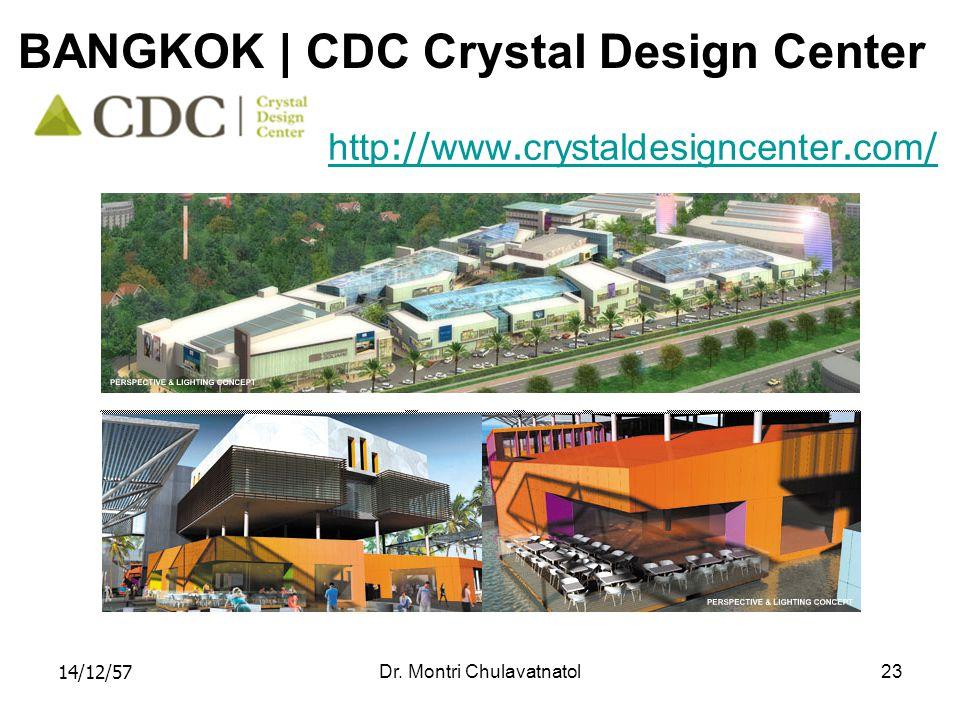 14/12/57Dr. Montri Chulavatnatol23 BANGKOK | CDC Crystal Design Center http://www.crystaldesigncenter.com/