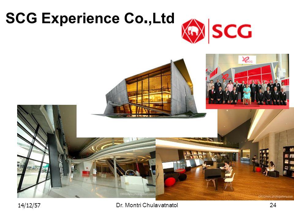 14/12/57Dr. Montri Chulavatnatol24 SCG Experience Co.,Ltd