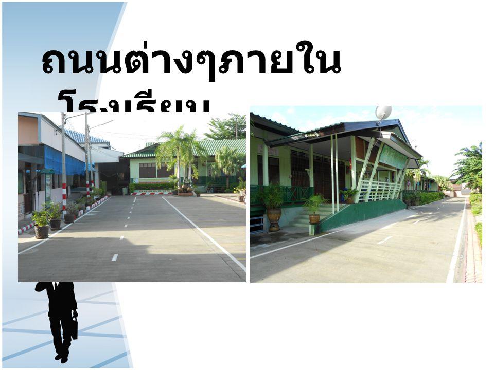 ถนนต่างๆภายใน โรงเรียน