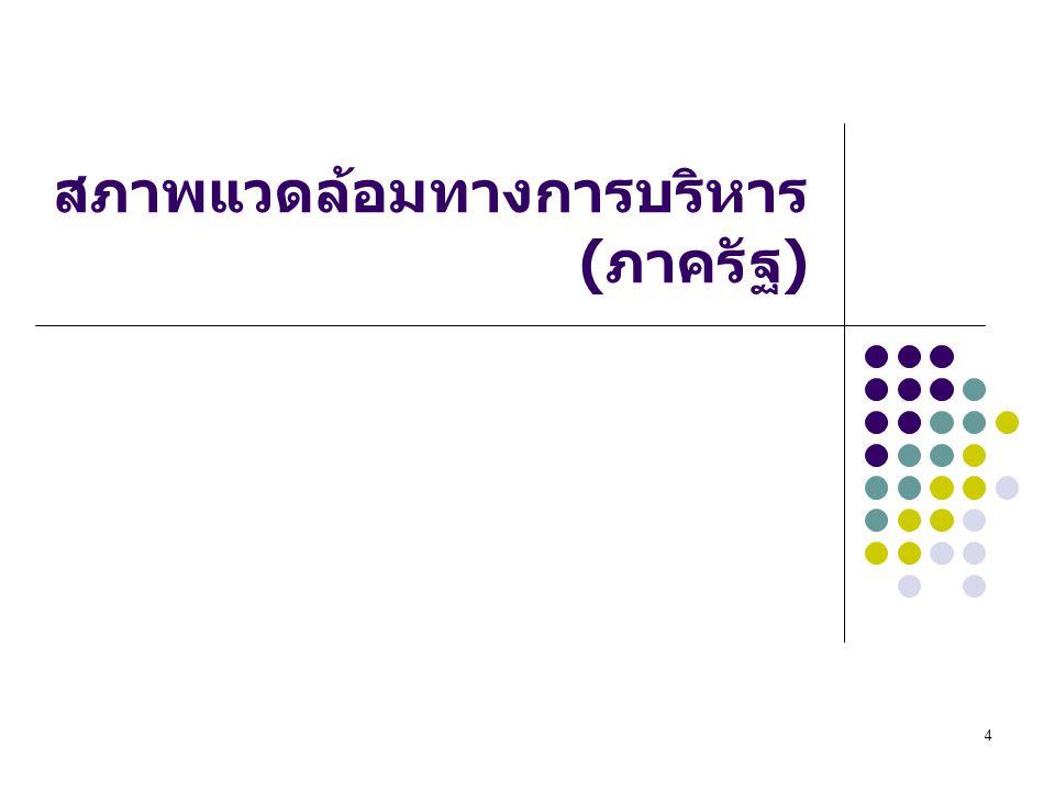 4 สภาพแวดล้อมทางการบริหาร ( ภาครัฐ )