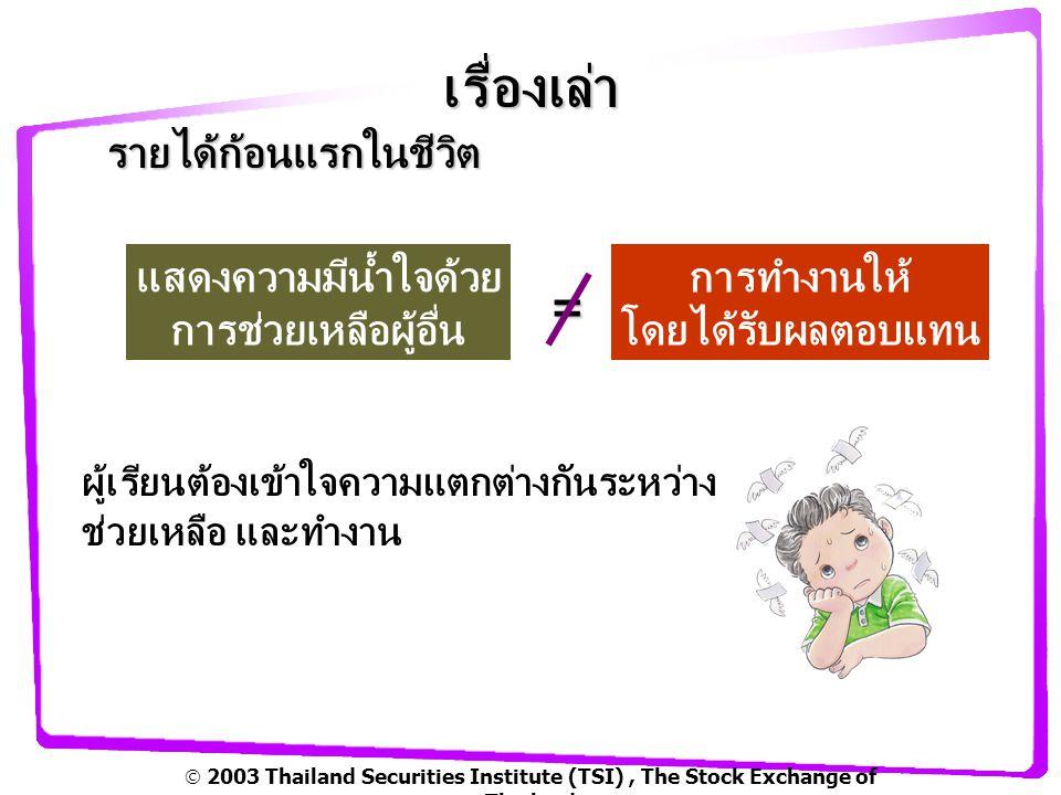  2003 Thailand Securities Institute (TSI), The Stock Exchange of Thailand เรื่องเล่า บริษัทแก้วขนส่งจำกัด ทำงาน ปัจจัยในการเริ่มต้นเป็นผู้ปรกอบการของแก้ว มีความคิดไม่หยุดนิ่ง ต้องการมีรายได้ เลือกทำเรื่องที่ถนัด เห็นโอกาส เป็นเจ้าของกิจการมีรายได้ แบ่งเบาภาระครอบครัว