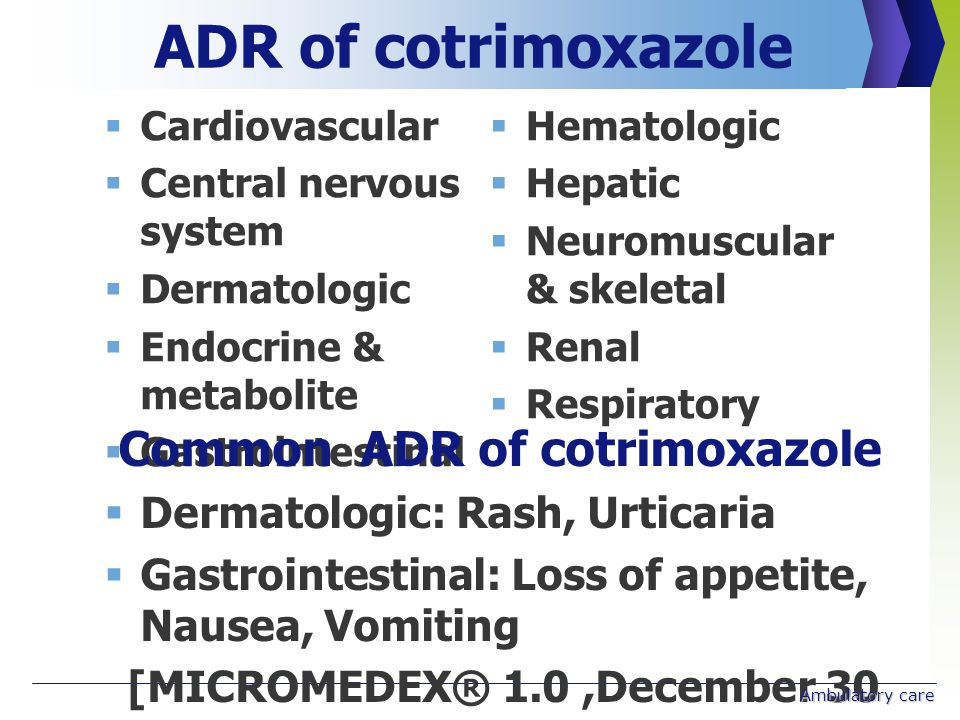 (WHO guidelines on cotrimoxazole prophylaxis for HIV related infection, 2006)
