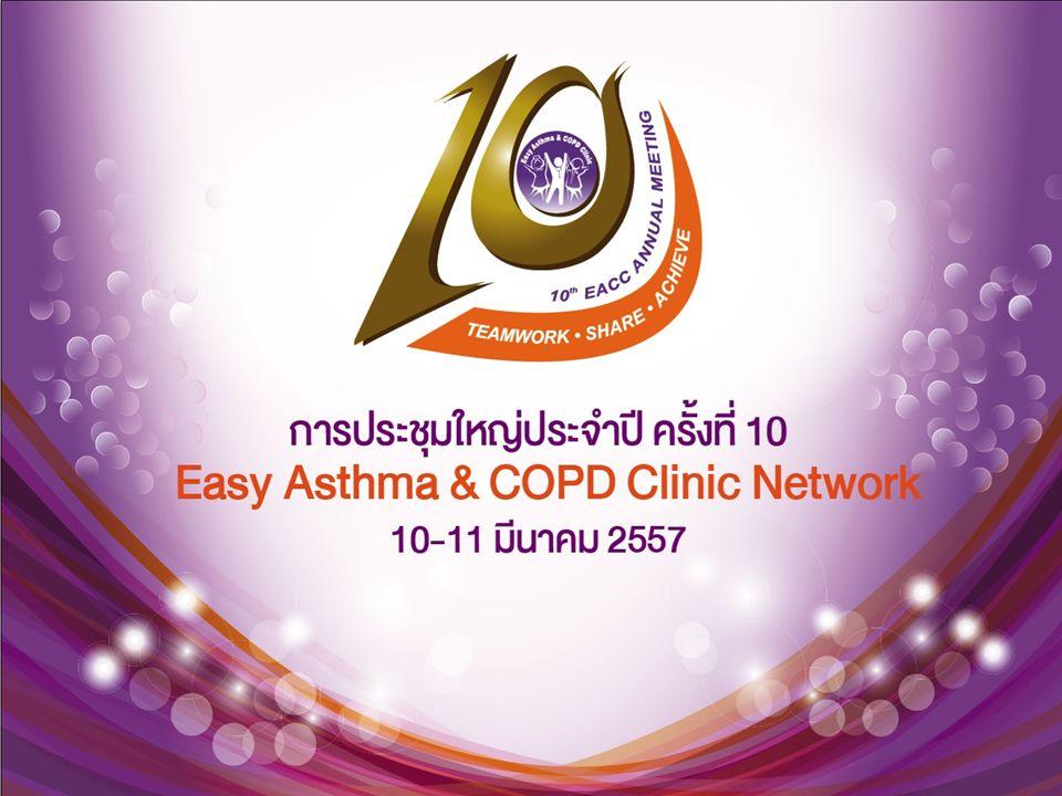 การวินิจฉัย ปัจจุบัน การวินิจฉัยใช้ Modified Asthma predictive Index โดยกำหนด Criteria ดังนี้ มีอาการหอบมากกว่า 3 ครั้ง ร่วมกับ 1 major criteria หรือ 2 minor criteria Major criteria 1.
