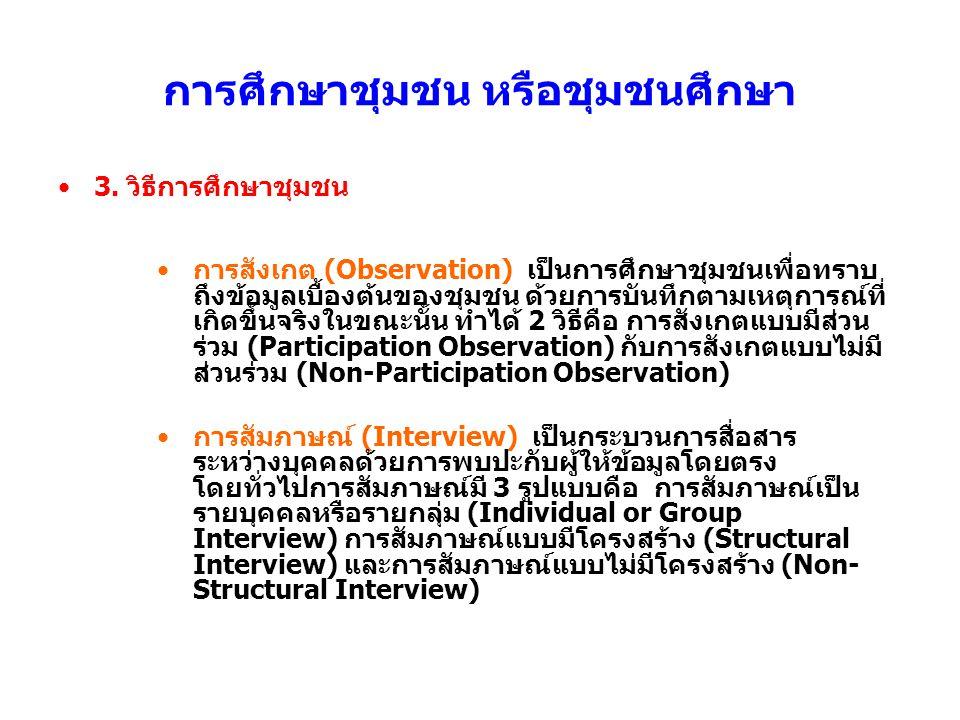 4.ขั้นตอนในการวางแผนและโครงการในงานพัฒนาชุมชน 1.