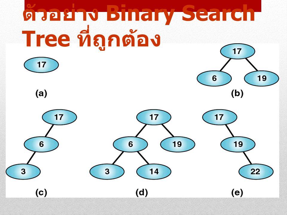 4 ตัวอย่าง Binary Search Tree ที่ถูกต้อง