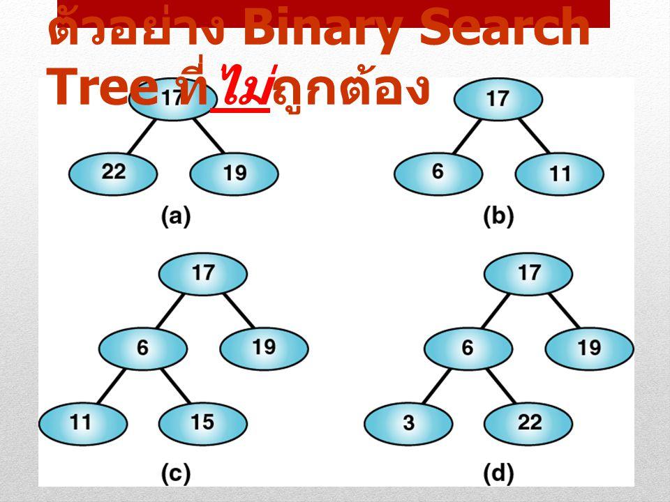 5 ตัวอย่าง Binary Search Tree ที่ไม่ถูกต้อง