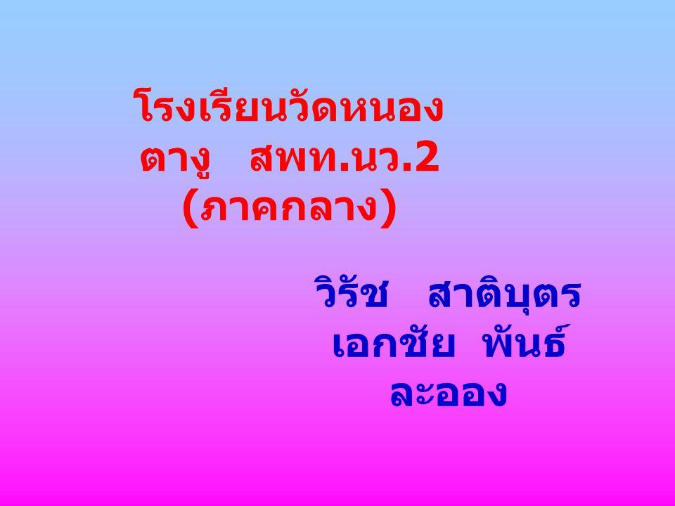 โรงเรียนวัดหนอง ตางู สพท. นว.2 ( ภาคกลาง ) วิรัช สาติบุตร เอกชัย พันธ์ ละออง
