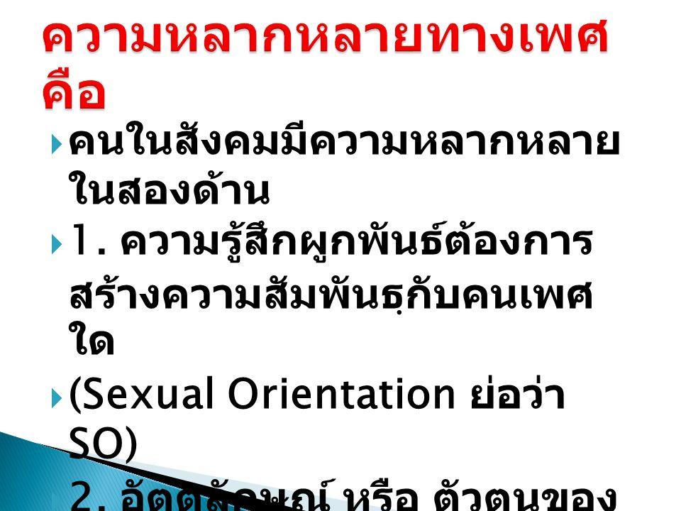  Sexual Orientation ย่อว่า SO