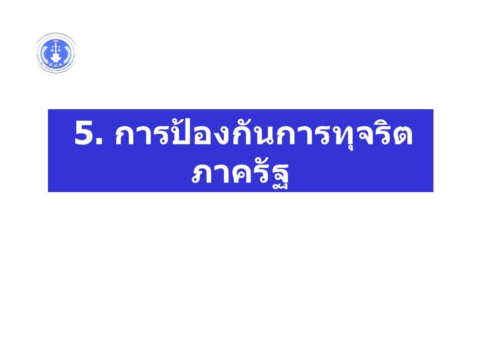 5. การป้องกันการทุจริต ภาครัฐ
