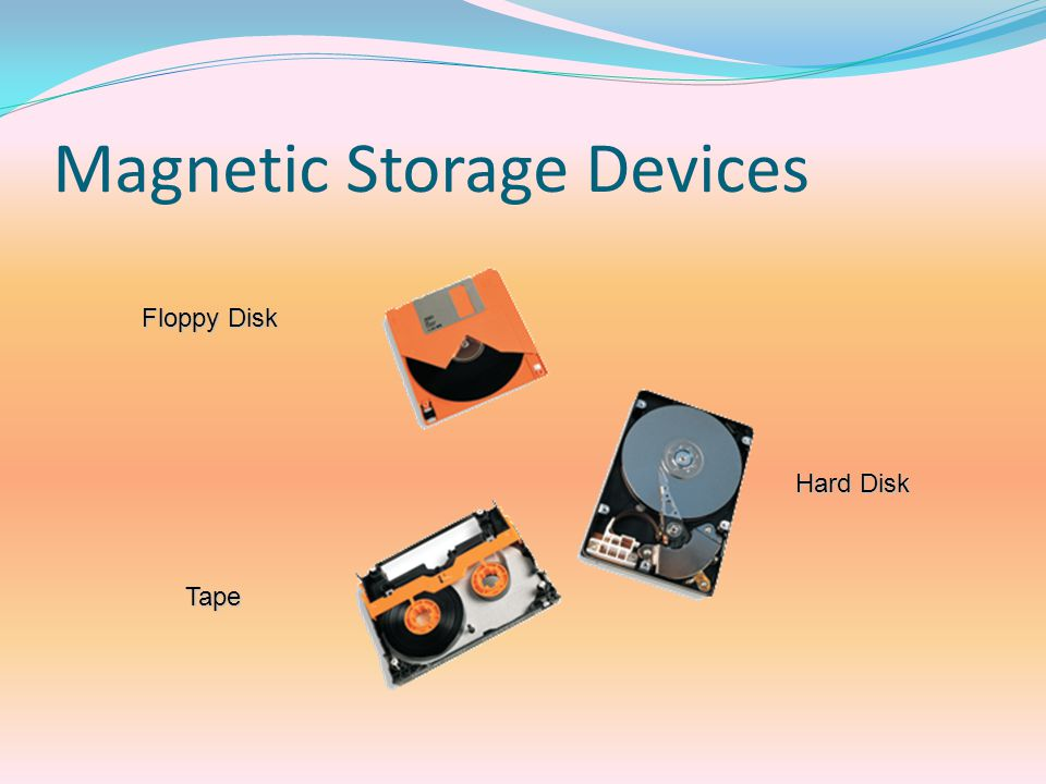 Magnetic Storage Devices Floppy Disk Hard Disk Tape