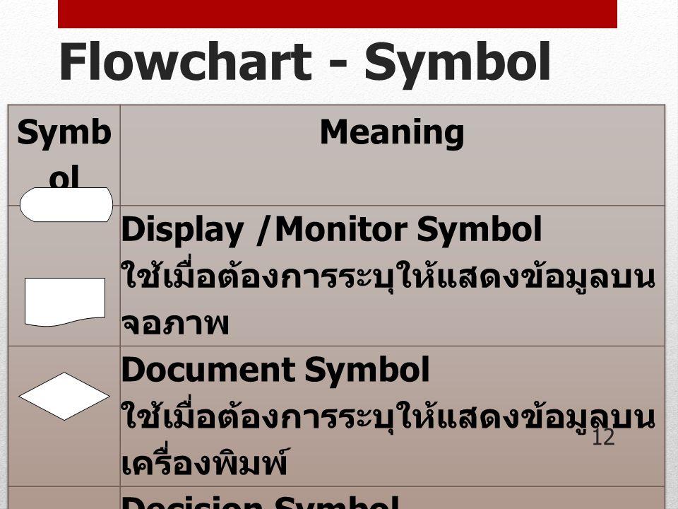 Flowchart - Symbol 12