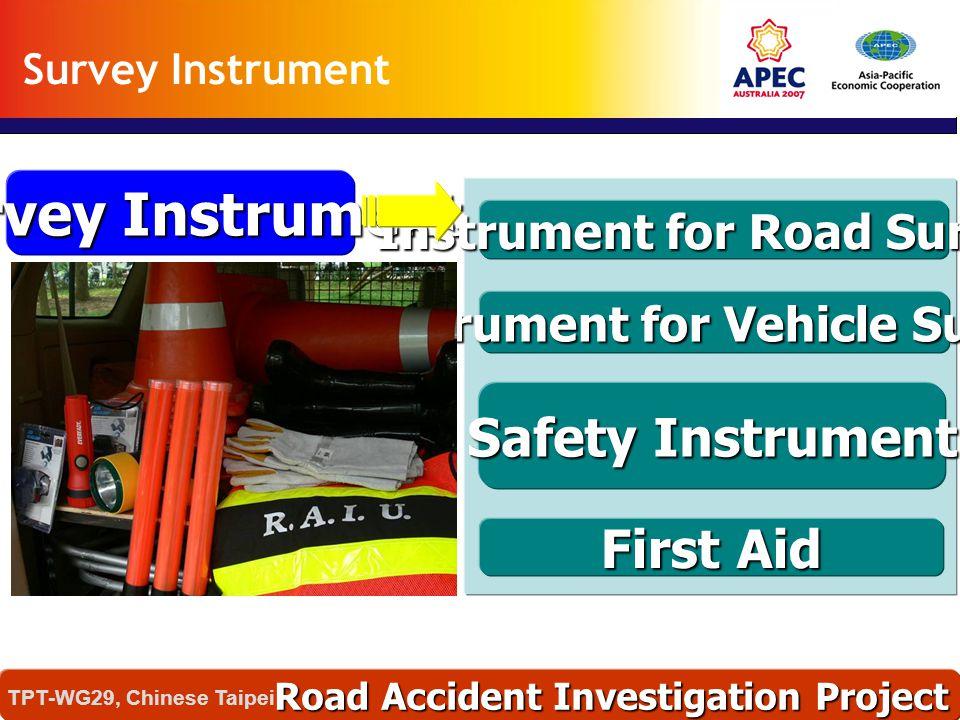 Survey Instrument Instrument for Road Survey Safety Instrument First Aid Instrument for Vehicle Survey Road Accident Investigation Project TPT-WG29, C