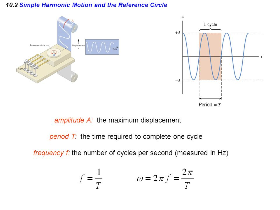 10.2 Simple Harmonic Motion and the Reference Circle VELOCITY