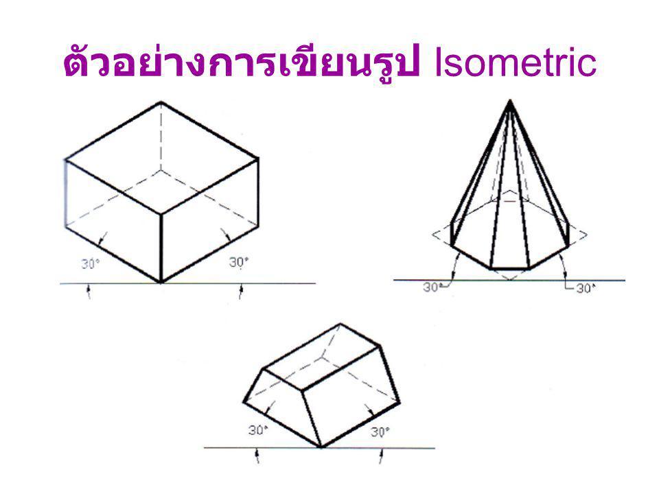ตัวอย่างการเขียนรูป Isometric